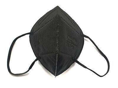 25 x FFP2 Atem-Schutzmasken einzeln verpackt in schwarz Mundschutz Gesichtsmaske