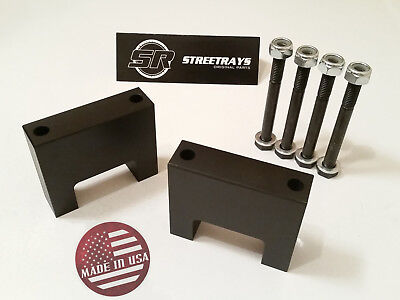 "[SR] 87-08 RAM /Dakota /Durango 1500 3"" Front Lift Billet Shock Extenders BLACK"