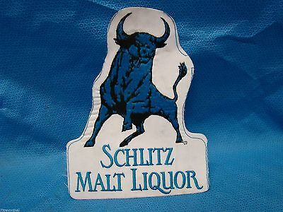 Vintage Schlitz Malt Liquor Bull Embroidered Jacket PATCH 9 x 7 Rare Jacket Jean