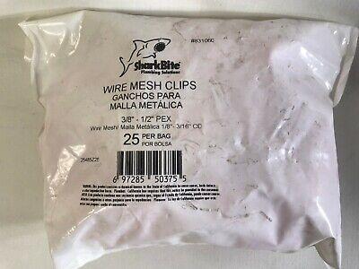 Sharkbite 25-pack Radiant Heating Pex Wire Mesh Clips 38 - 12 Pex 25485z25