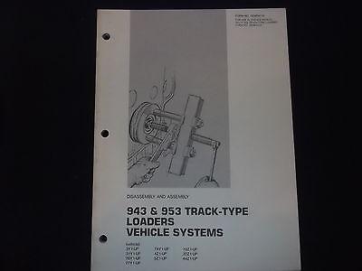 Cat Caterpillar 943 953 Loader Systems Disassembly Book Manual Senr4216