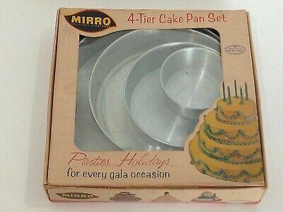 New Vintage Mirro Aluminum 4 Tier Cake Pan Set