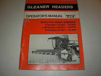 Gleaner F Lm R Headers Operators Manual