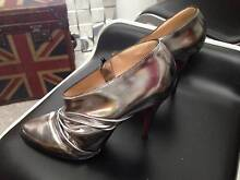 Christian Louboutin Pewter Leather Ankle Boots size 37 Maroubra Eastern Suburbs Preview