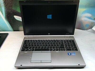HP EliteBook 8570p Laptop i7-3740QM 2.7ghz - 8GB - Windows 10 - Webcam - TESTED