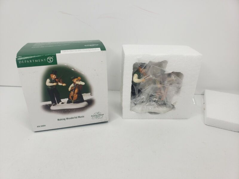 Dept 56 Dickens Christmas Village Making Wonderful Music OPEN BOX NFRB