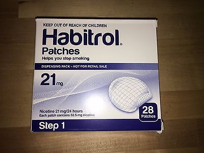 Step 1 Habitrol Transdermal Nicotine Patches 21mg 1 Box of 28 patches FRESH