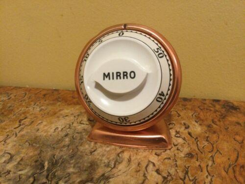 Vintage 1950s Robert Shaw Lux Mirro Copper Kitchen Timer Mid-Century Works.