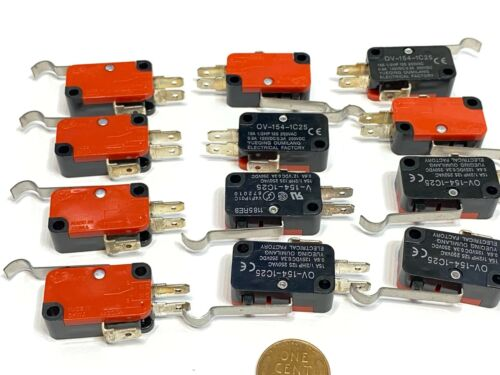 12 x  V-154-1C25 Momentary Limit Micro Switch SPDT Snap Action Switch C16