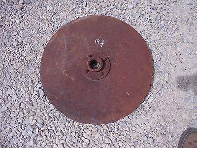 Farmall Ih Case Jd John Deere Plow 19 34 Rolling Rollin Cutter Wheel Disc Disk