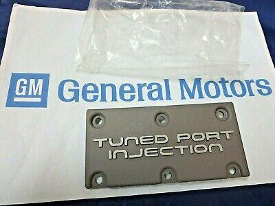 New GM 1984- 1991 C4 Corvette Camaro Tuned Port Injection emblem plaque engine
