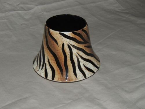 Home Interiors Candle Shade Jar Topper - Jungle, Safari, Africa, Tiger, Animal