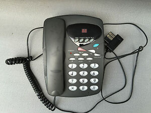 ancien t l phone fixe r pondeur grosses touches fonctionne french antique ebay. Black Bedroom Furniture Sets. Home Design Ideas