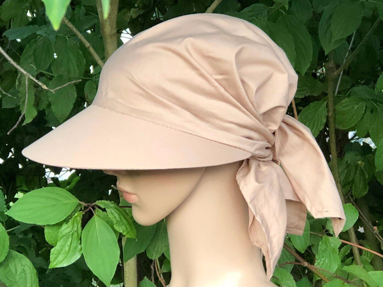 Schirmtuch z. Binden Schirmmütze Kopftuch Bandana Sommerhut Sonnenschutz Cabrio