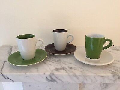 Kahla Espresso Coffee Cup Mug And Saucer X 3