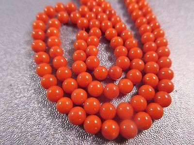 Red Bamboo (Red Bamboo Coral Round 4mm Beads)
