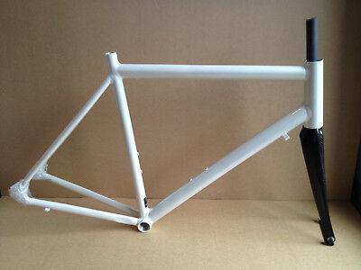 Intec F1 Aluminium Rahmen-Set Rennrad mit Carbon-Gabel, weiß, Gr. L, NEU