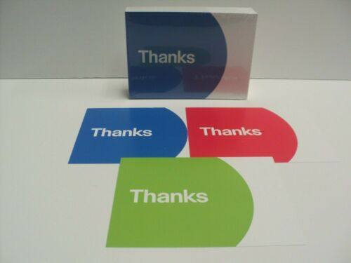 NEW 100 eBay-Branded Thank You Postcards, 3 Colors Red, Blue, Green