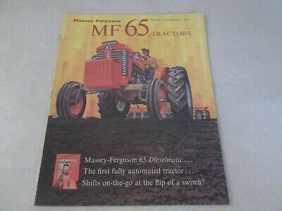 Massey Ferguson Model Mf 65 Diesel Gasoline Tractors Brochure