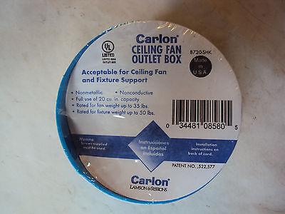New  Lot Of 15  Carlon Ceiling Fan Outlet Box