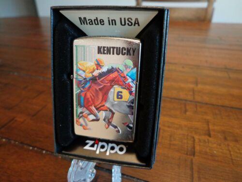 KENTUCKY DERBY HORSE RACING #6 JOCKIES ZIPPO LIGHTER MINT IN BOX