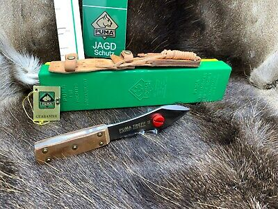 1996 Puma Treff II Throwing Knife & Sheath Mint In Wood Display