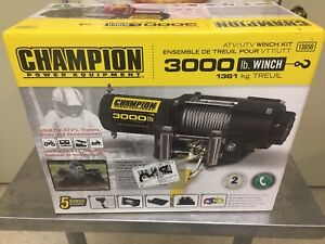 Champion 3000 lb winch kit  NEW UNOPENED IN BOX