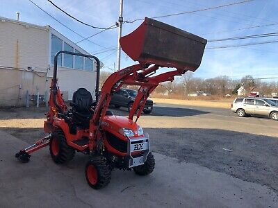 2017 Kubota Bx 25d Superlow Hrs With Front Loader And Backhoe Work Lights