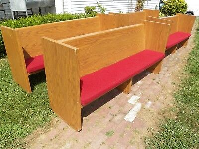 "74"" Mid Century Oak Modern Bench Pew hall seat for sale  North East"