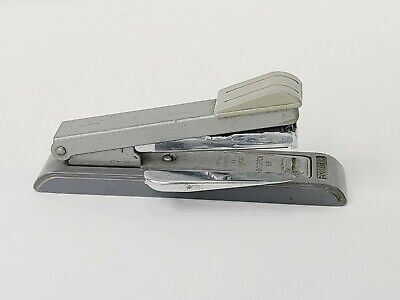 Vintage Bostitch Stapler B8 Gray 5 12 With Staple Remover
