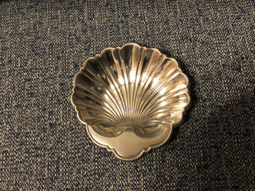 BEAUTIFUL VINTAGE GORHAM STERLING SILVER CLAMSHELL CANDY NUT DISH 445 74 Grams - $54.99
