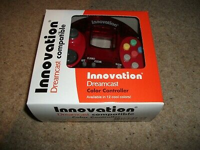 DREAMCAST CONTROLLER - INNOVATION - Clear RED - NEW & BOXED