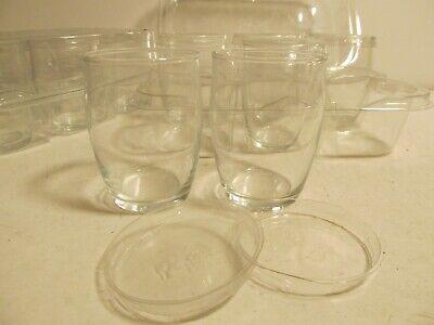 Plastic Glasses With Lids (Dozen Juice Glasses New with Plastic)