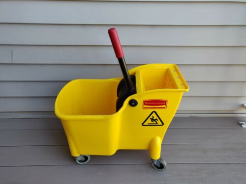 Rubbermaid Tandem 31 Qt Mop Bucket/Wringer Combo 738000YEL (pickup only, no ship
