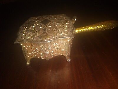 Vintage Silent Butler Silverplate with Gold Overlay