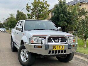 2004 Nissan Navara ST-R (4x4) 3.0 Turbo Diesel Manual Dual Cab Utility Low Kms Log Books 6months Re