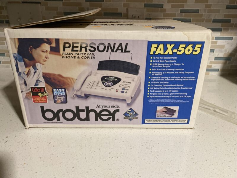 Personal Plain Paper Brother FAX-565 Fax  Machine