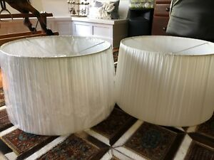 2 NEW Billow Lamp Shades 60 x 36cm Forrest South Canberra Preview