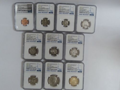 225TH ANNIVERSARY SET 2017-S EARLY RELEASES SP 69 ENHANCED FINISH 10 COIN SET