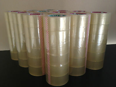 10 Case 360 Rolls Clear Packing Sealing Packaging Tape 2x110 Yards