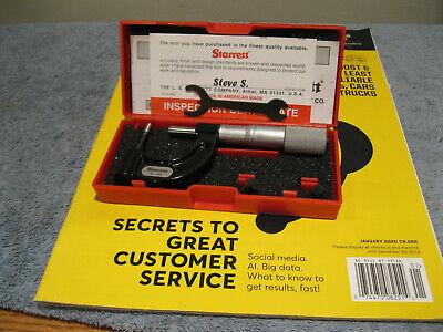 Starrett 569axp Tube Micrometer1 Carbide .001 No Engravingsmachinist Tools