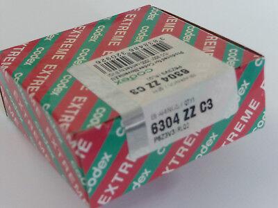 **CODEX-Rillenkugellager 6304-ZZ/C3.RLQ - Dichtscheiben -  20x52x15mm ** NEU**