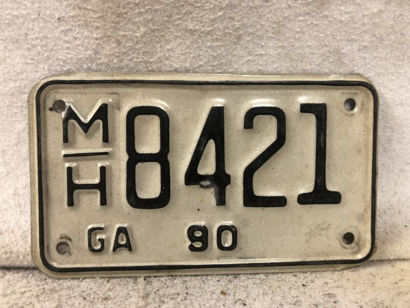 1990 Georgia Motorcycle License Plate