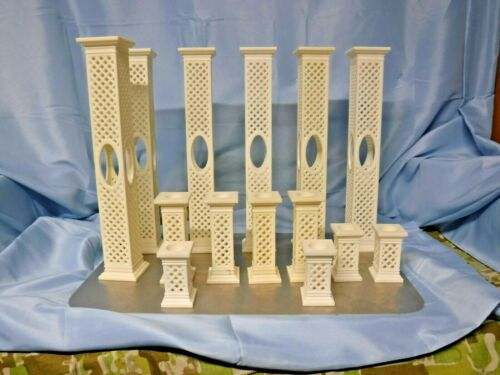 Vintage 1995 Wilton Cake Lattice Columns / Pillars - 3 Sizes 14 Total Pieces