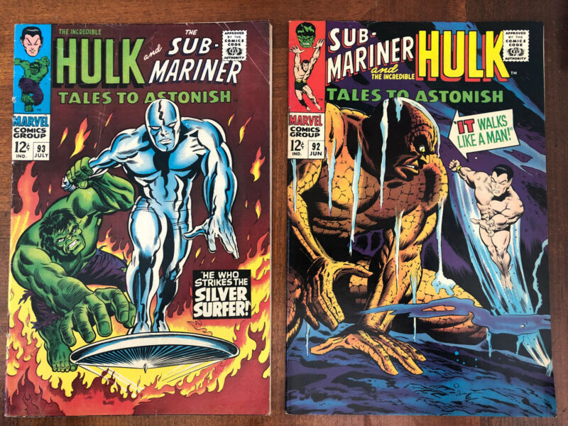 Tales to Astonish 93 & 92. Hulk And Sub-Mariner: Early Silver Surfer