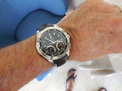 TAG Heuer Aquaracer Calibre S Chronograph Men's 43mm CAF7010 Watch, Black  Strap