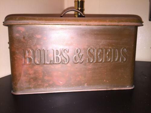 Primitive Industrial Vtg Copper Storage Box Lid & Handles