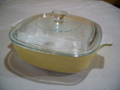 - CORNING WARE Mustard Colored  Casserole 1 qt/Lid  P-1-B