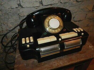 Vintage Soviet USSR Black Rotary Dial Desk Telephone Phone Switch Commutator  Rotary Dial Switch