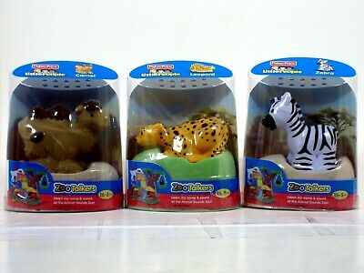 Fisher-Price Little People Zoo Talkers CAMEL LEOPARD ZEBRA LOT OF 3 with sounds